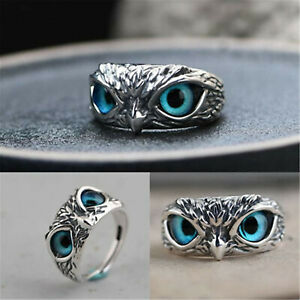 Statment Ring Owl Marcasite Ring Owl Ring Cocktail Ring Antique Style Ring Boho Ring 925 Sterling Silver Ring