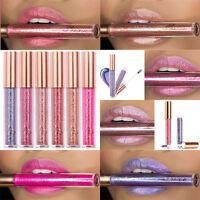 Neu FOCALLURE Wasserdicht Matt Lippenstift Flüssigkeit Diamant Funkeln Lip Gloss