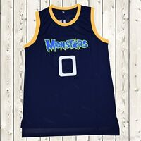 Monstars Space Jam Jersey #0 Movie Stitched Throwback Jordan Tune Squad Black