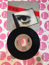 """FOREIGNER: """"SAY YOU WILL""""/""""A NIGHT TO REMEMBER"""" 1987 ATLANTIC 45W/PICTURE SLEEVE"""