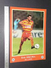 RARE ERIC SIKORA RC LENS RCL BOLLAERT SANG & OR FOOTBALL CPA FRANCE 1996-1997