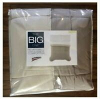 The Big One REVERSIBLE DOWN-ALTERNATIVE Comforter TAUPE (New)