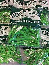 "250 Professional Shiny Green 3 1/4"" Hardwood Golf Tees Free Shipping"