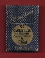 """Jeu de 54 cartes luxe - """"Américaines"""" - Lavables - Cellulak - Toiline - Delle"""