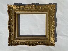cadre pour tableau 2F 27 cm par 22 cm doré sculpté bois à la main bon état
