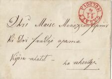 ROMANIA 1855 - 1860 FOLDED  LETTER FROM GALATZ WITH RED 'GALATZ MOLDOVA' PMK