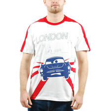 Men's PUMA Cars Graphic Tee T-Shirt White Rosso Corsa London size L (T85) $45