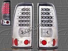 2003-2006 CHEVY SILVERADO  2004-2006 GMC SIERRA 1500/2500 CHROME TAIL LIGHTS LED