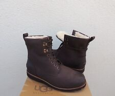 UGG HANNEN TL STOUT BROWN WATER-PROOF LEATHER/ SHEEPSKIN BOOTS, US 8/ 40.5 ~NEW