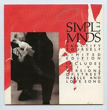 """Simple Minds/Sanctify Yourself + 3 (UK/Two 7"""" Vinyl Records)RARE LIMITED EDITION"""