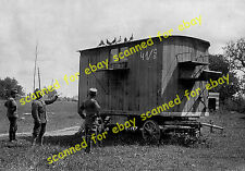 WW1 photo - Austrian Army, carrier pigeon trailer, Italian Front, approx. 1918