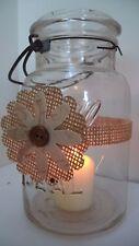 16 Burlap Peach Rustic Mason Jar Candle Centerpiece Wedding Party Wraps N31