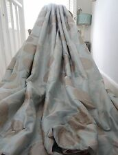 LAURA ASHLEY CURTAINS SILK ERIN shabby chic duck egg blue INTERLINED & B/OUT