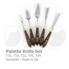 Couteau ensemble de X5 par seawhite-made dans uk-wooden poignée no. 15,18,22,45 & 49
