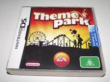 Theme Park Nintendo DS 3DS Game *Complete*