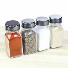 Seasoning Shakers Storage Spice Herbs Glass Bottles Kitchen Condiments Tools Set