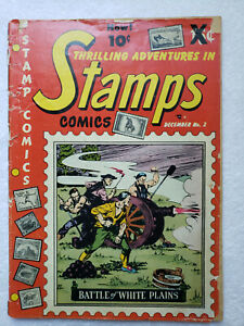 Thrilling Adventures in Stamps Comics #2 (Dec 1951, Youthful) [GD/VG 3.0]