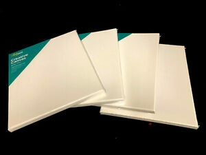 """5 x Artist 10"""" x 12"""" Blank Canvas White 25.4 x 30.5cm For Acrylic & Oil Painting"""