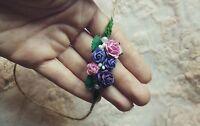 Handmade Newborn Girl Rose Flower Headband Tieback Baby Photography Photo Prop
