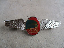vintage 1990 United Beechcraft Aviation Test Pilot Wings Pin