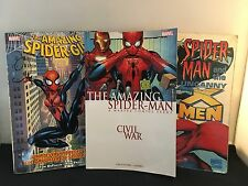 Spider-Man 3 Graphic Book Set – Civil War ;  & the Uncanny X-Men; Spider-Girl