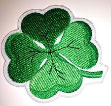3 inch Shamrock 4 Leaf Clover iron on patch punk Irish green rockabilly - 23