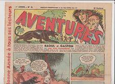 AVENTURES 1ère année 1936. n°39 - 29 décembre 1936. Bel état