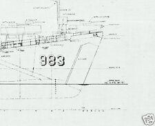 LANDING SHIP TANK BLUEPRINT PLANS LST WW2 D-DAY RARE DETAIL ARCHIVE DRAWINGS