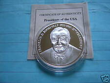 FRANKLIN ROOSEVELT PRESIDENT $20 LIBERIA 999 SILVER COIN RARE SHARP