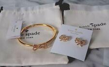 Kate Spade Bow Meets Girl Pave Studs O0ru2633 Gold-tone