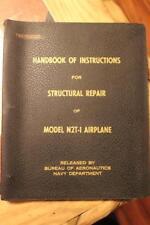 ORIGINAL 1943 TIMM N2T-1 TUTOR TRAINER STRUCTURAL REPAIR FLIGHT MANUAL HANDBOOK