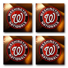 Washington Nationals Baseball Rubber Square Coaster set (4 pack) SRC2029