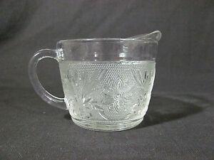 Indiana Clear Glass Tiara Cream Pitcher