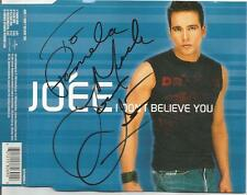 Joee I Don't Believe You CD Single  Signed Autographed  2000 Universal Music