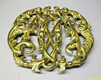 VIRGINIA METALCRAFTERS 1950 BRASS COLONIAL WILLIAMSBURG  CYPHER TRIVET # CW10-14