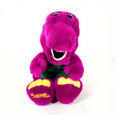 Barney the Purple Dinosaur Hand Puppet Stuffed Plush Toy 1992 Collectable NICE