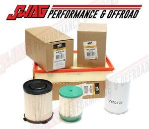 WIX Oil, Fuel & Air Filter Set For '16-18 Nissan Titan XD Cummins 5.0L Diesel