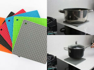 Silicone Trivet Mat Heat Resistant Pan Holder Iron Non Slip Multi Use