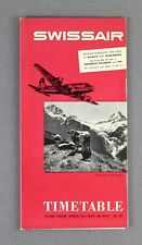 SWISSAIR AIRLINE TIMETABLE SUMMER 1951 NO.13 ROUTE MAP