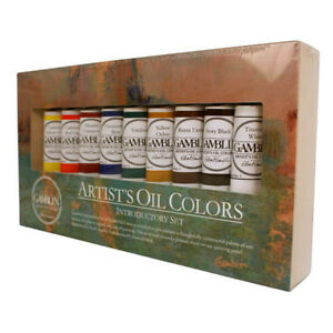 Gamblin Artists Oil Painting Introductory Set, 9 colours 37ml tubes