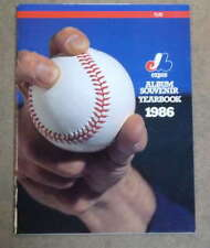 MONTREAL EXPOS BASEBALL YEARBOOK - 1986 - NEAR MINT