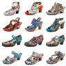 SOCOFY Women's Summer Bohemia Genuine Leather Shoes Hand Stitching Sandals