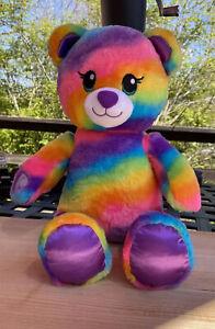 "BABW / Build a Bear Workshop RAINBOW FRIENDS BEAR 17"" Plush Stuffed Toy"