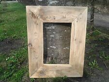 Rustic Reclaimed Wood Driftwood Picture Canvas Photo Frame Mother's day gift