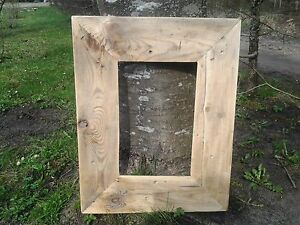 Rustic Reclaimed Wood Driftwood A4 Picture Canvas Photo Frame Christmas Frame