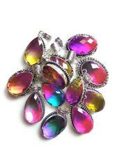 Wholesale Lot 20Pcs. TURMALINE QUARTZ 925 Sterling Silver Plated Pendant Jewelry