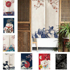 Japanese Ukiyoe Door Curtain Noren Doorway Banner Hanging Home Decor Divider