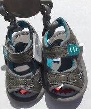 Baby Boys Sandals in Grey Shark detail