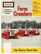 Ih International Harvester Farm Crawler Tractorst 4 T5 Td 5 Brochure T4 T5 Td5
