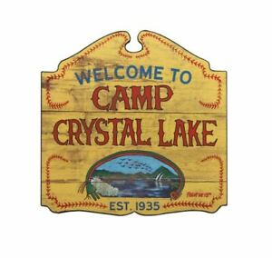Officially Licensed Friday the 13th Welcome to Camp Crystal Lake Decorative Sign